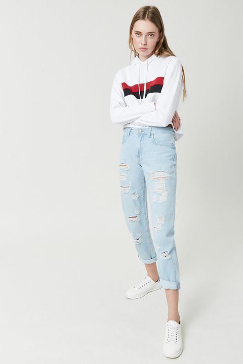 Boyfriend Jeans Premium de Forever 21 en 21 Buttons