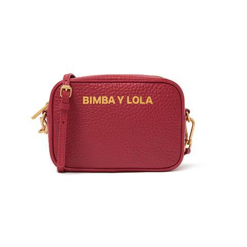Bolso Bandolera Piel Rojo de Bimba Y Lola en 21 Buttons