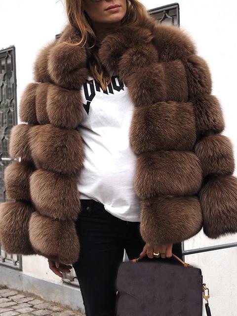 Cappotto lungo finta pelliccia