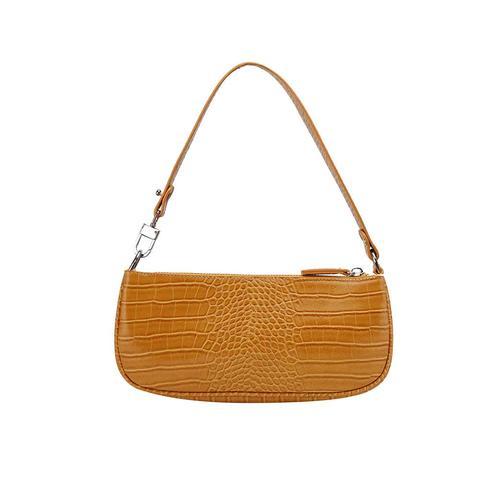 Lcket Snakeskin Leather Tote Bag