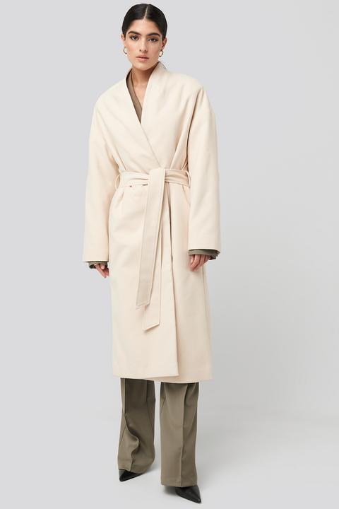 Na-kd Classic Classic Long Coat - White de NA-KD en 21 Buttons