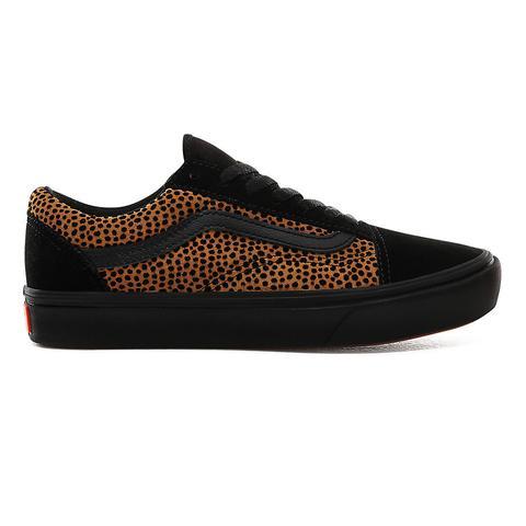Vans Zapatillas Tiny Cheetah Comfycush Old Skool ((tiny Cheetah) Black) Mujer Negro de Vans en 21 Buttons