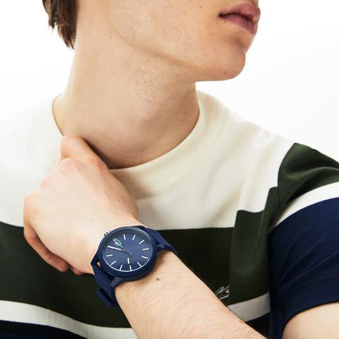 Reloj De Hombre Lacoste 12.12 Con Correa De Silicona Azul de Lacoste en 21 Buttons