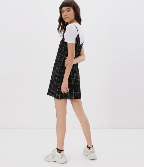 Vestido Slip Dress Xadrez Grid from Renner on 21 Buttons