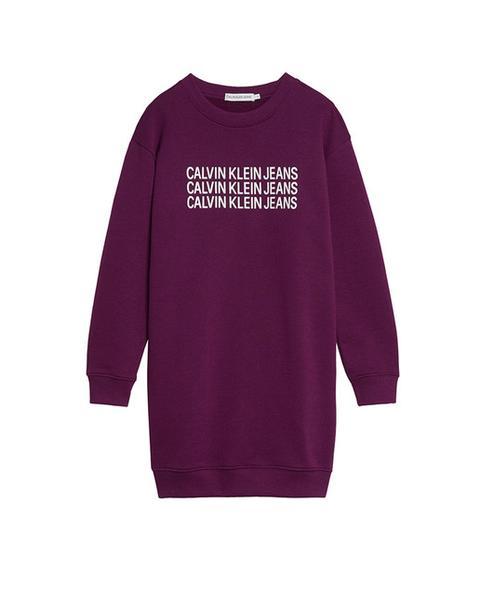 Calvin Klein - Vestido De Niña Efecto Sudadera En Granate de El Corte Ingles en 21 Buttons