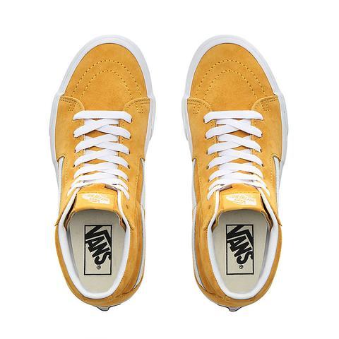 Vans Zapatillas Sk8-hi De Ante De Cerdo ((pig Suede) Mango Mojito/true White) Mujer Amarillo