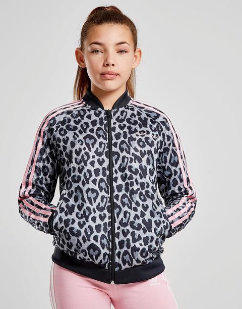 Adidas Originals Girls' Leopard Superstar Track Top Junior Grey Kids from Jd Sports on 21 Buttons