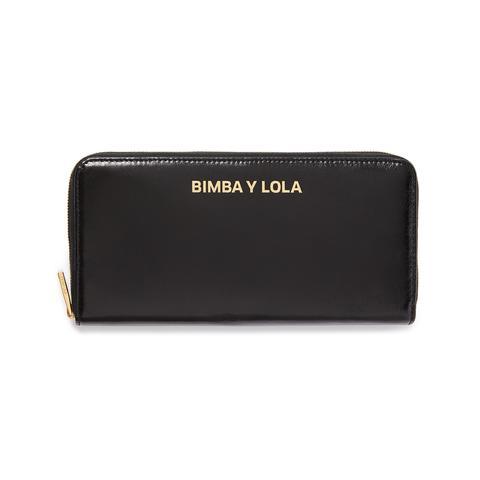 Para estrenar 5192b 74de4 Billetera Libro Piel Negra from Bimba Y Lola on 21 Buttons