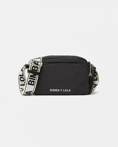 Bolso Bandolera M Acolchado Antracita de Bimba Y Lola en 21 Buttons