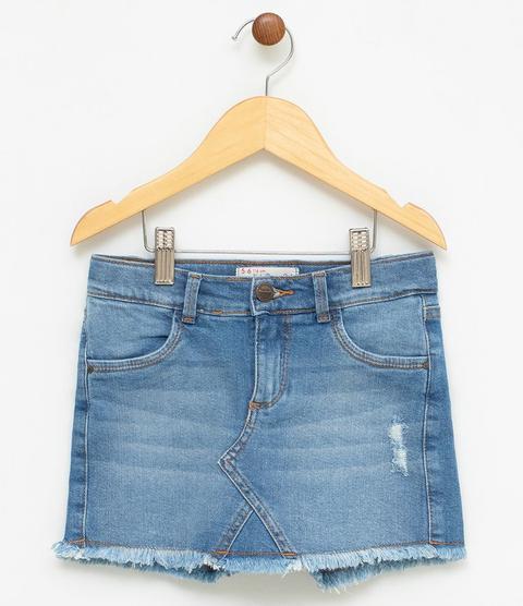Short Saia Infantil Em Jeans - Tam 5 A 14 from Renner on 21 Buttons