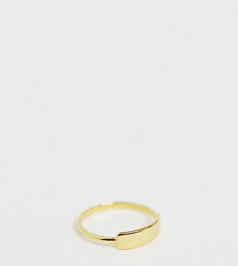 Kingsley Ryan - Ring Aus Vergoldetem Sterlingsilber Mit Steg - Gold from ASOS on 21 Buttons