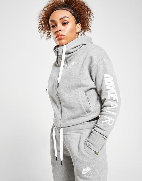 Nike Air Crop Full Zip Hoodie - Grey