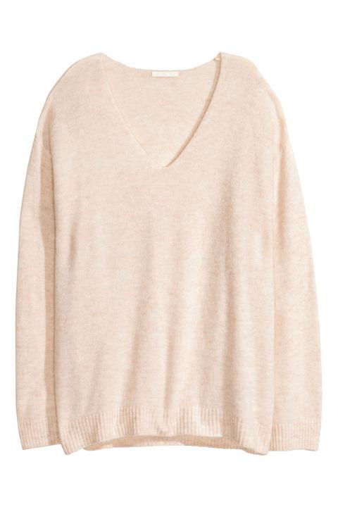H & M - Pullover In Maglia Fine - Beige