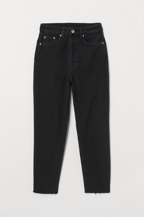 Luxus zuverlässige Qualität vorbestellen Slim Mom Jeans - Schwarz - Damen from H&M on 21 Buttons
