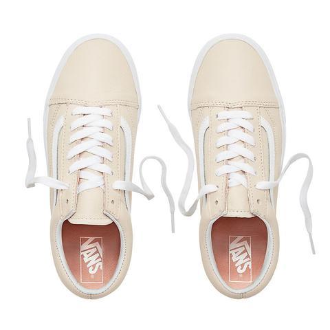 Vans Zapatillas De Cuero Old Skool ((leather) Sand Dollar) Mujer Beis