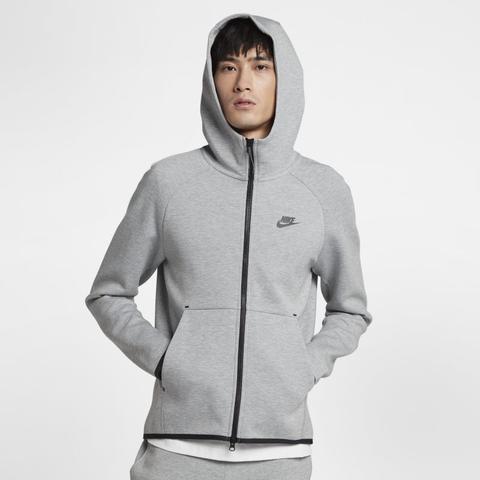 Nike Sportswear Tech Fleece Sudadera Con Capucha Con Cremallera Completa - Hombre - Gris de Nike en 21 Buttons