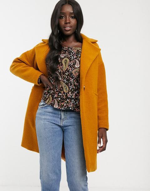 Abrigo De Lana Color Mostaza De New Look de ASOS en 21 Buttons