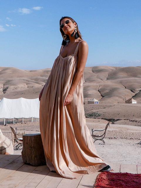 Vestido Beige Dorado