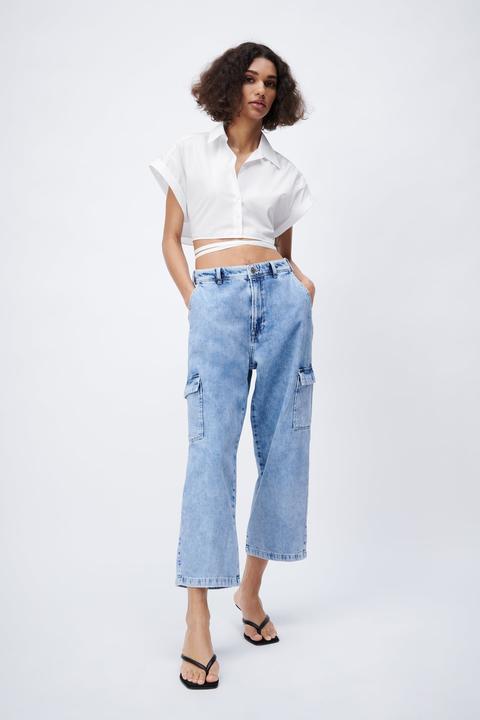 Jeans Z1975 Wide Leg Cropped