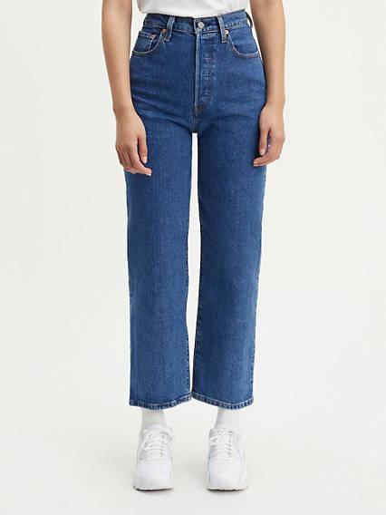 Ribcage Straight Ankle Jeans Azul / Georgie de Levi's en 21 Buttons