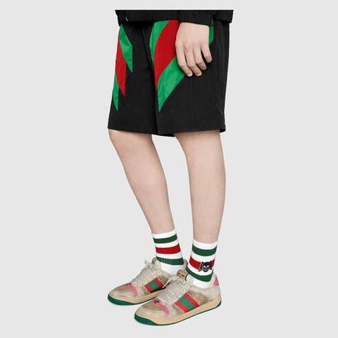 Calcetines De Algodón Con Calavera Alada de Gucci en 21 Buttons