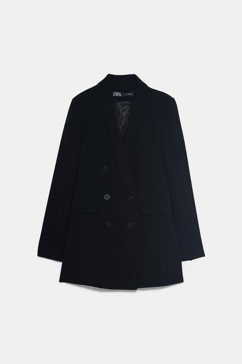 Shawl Lapel Blazer from Zara on 21 Buttons