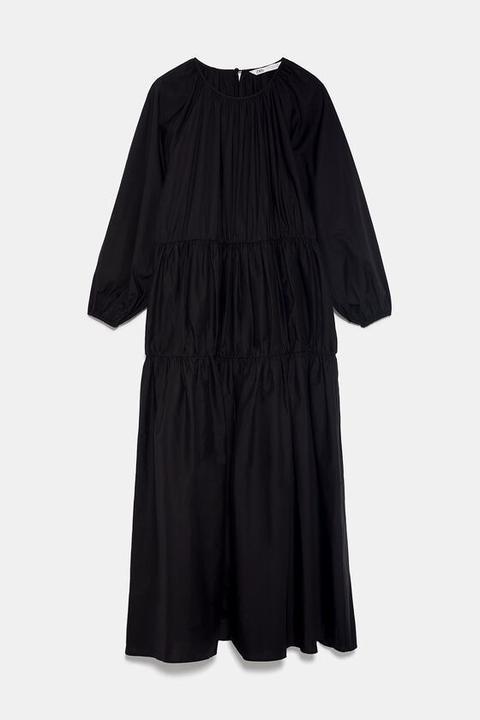 Vestido Midi Popelín