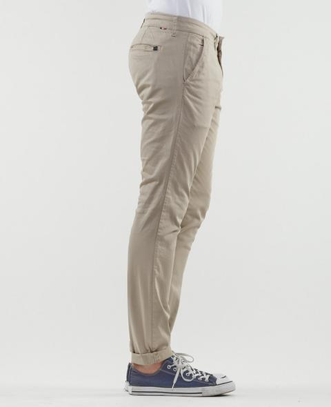 Pantalon Chino Jas Beige from Le temps des cerises on 21 Buttons