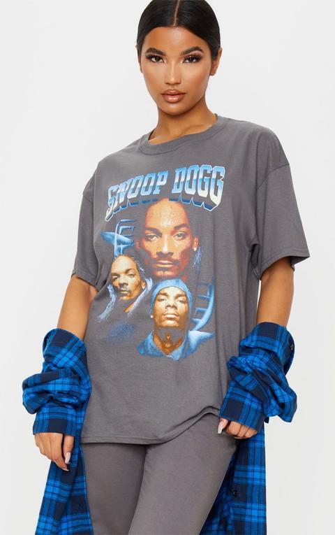 Grey Snoop Dogg Faces Oversized T Shirt