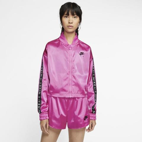 Track Jacket In Satin Nike Air - Donna - Rosa de Nike en 21 Buttons