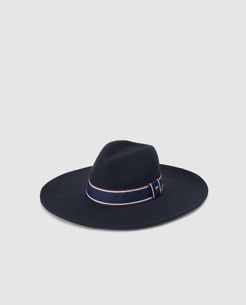 Gloria Ortiz - Sombrero De Mujer De Lana En Azul Marino de El Corte Ingles en 21 Buttons