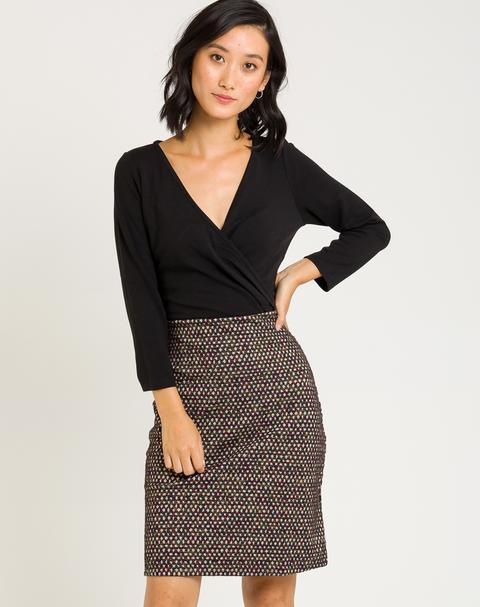 Vestido Mini Con Falda Estampada de Naf Naf en 21 Buttons