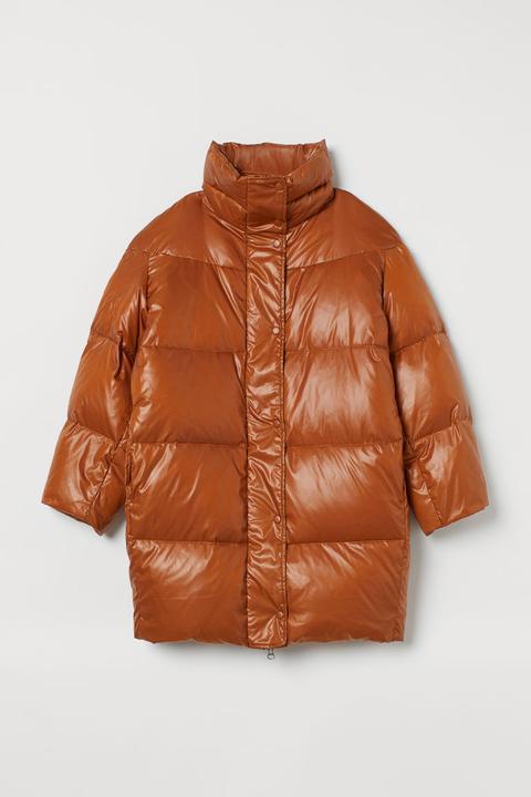 Plumífero Oversize De Plumón - Naranja de H&M en 21 Buttons