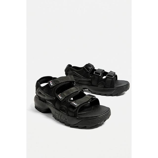 fila disruptor sandal black