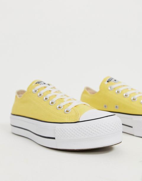 Zapatillas Bajas Con Plataforma En Amarillo Chuck Taylor All Star De Converse de ASOS en 21 Buttons