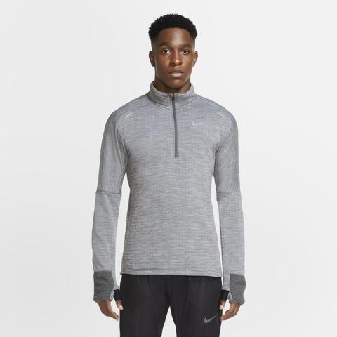 Nike Sphere Men's 1/2-zip Running Top - Grey