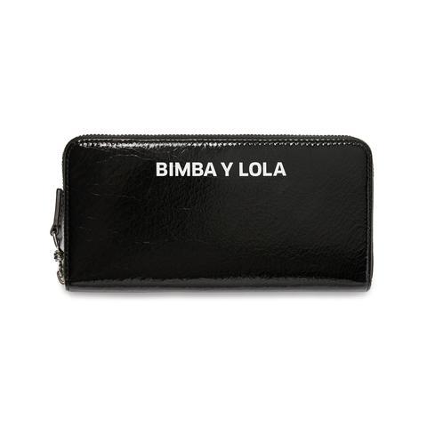 más baratas 41bca 5de0a Billetera Grande Piel Negra from Bimba Y Lola on 21 Buttons