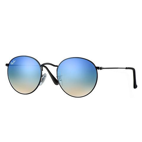compra meglio confrontare il prezzo classcic Ray Ban Round Flash Lenses Gradient Unisex Sunglasses Lenti: Blu,  Montatura: Nero - Rb3447 002/4o 50-21 from Ray-Ban on 21 Buttons