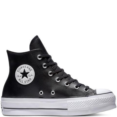 Converse Chuck Taylor All Star Lift Leather High Top Black, White de Converse en 21 Buttons