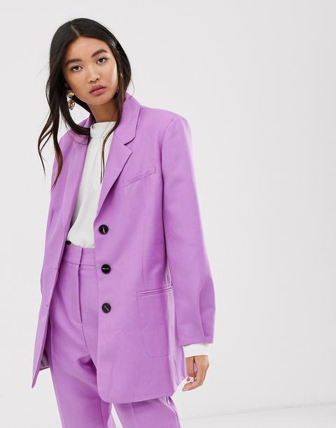 Americana De Traje Lila Extragrande Dad De Asos Design-violeta de ASOS en 21 Buttons