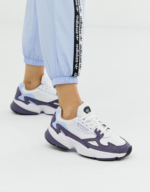 Zapatillas De Deporte En Azul Sombrío Ryv Falcon De Adidas Originals