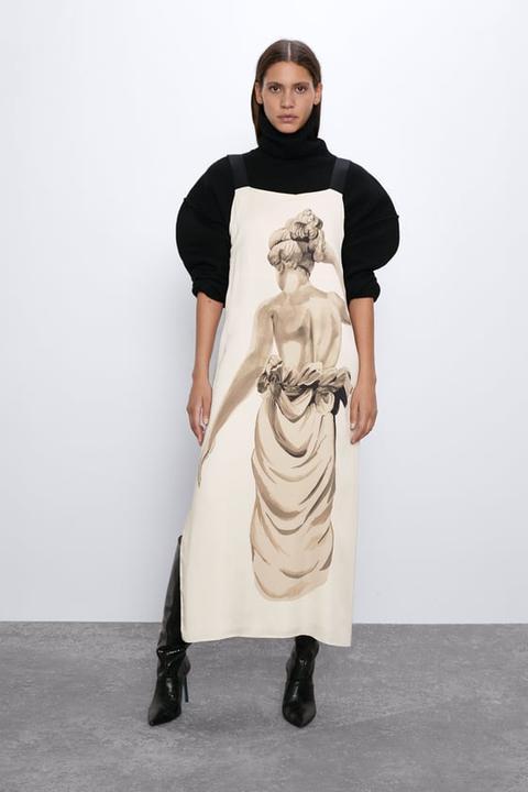 Vestido Estampado Estatua