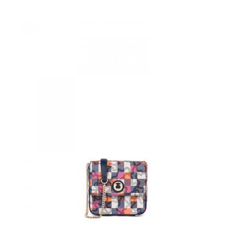 Bandolera Pequeña Kaos Vichy De Lona En Color Marino de Tous en 21 Buttons