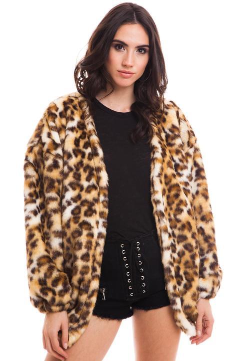 mejor sitio web 851e6 0150c Abrigo Pelo Leopardo de Bdba en 21 Buttons