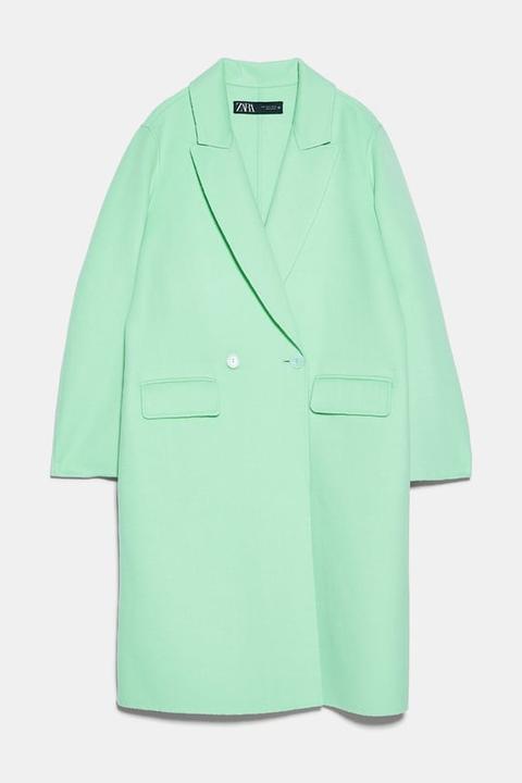 Abrigo Bolsillos Solapa de Zara en 21 Buttons