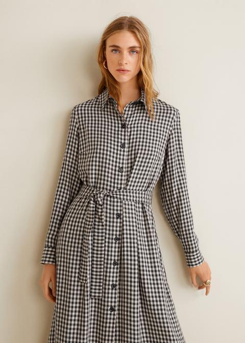 comprar venta en línea productos de calidad Vestido Cuadros Vichy de Mango Outlet en 21 Buttons