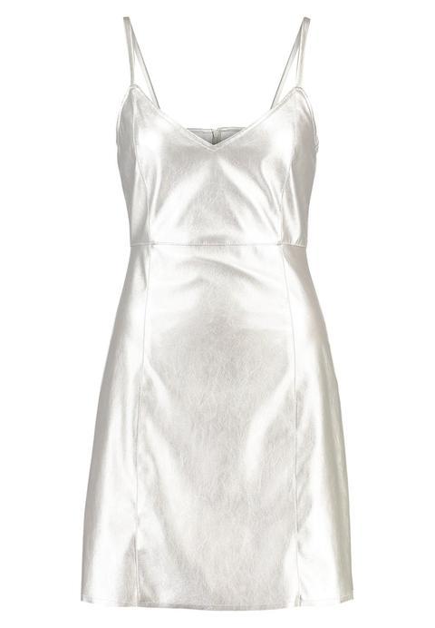 Even&odd Vestido De Cóctel Silver