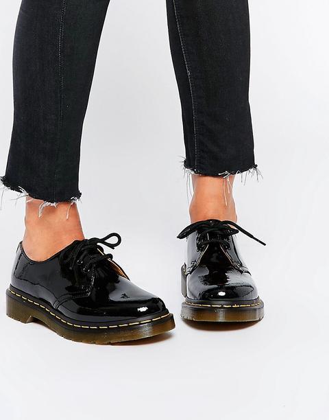 Madison heroína escapar  Zapatos Planos Clásicos De Charol Negro 1461 De Dr Martens from ASOS on 21  Buttons