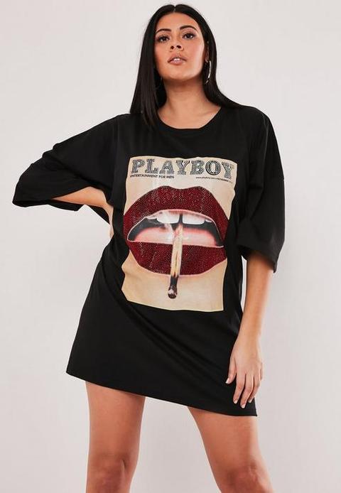lips t shirt dress
