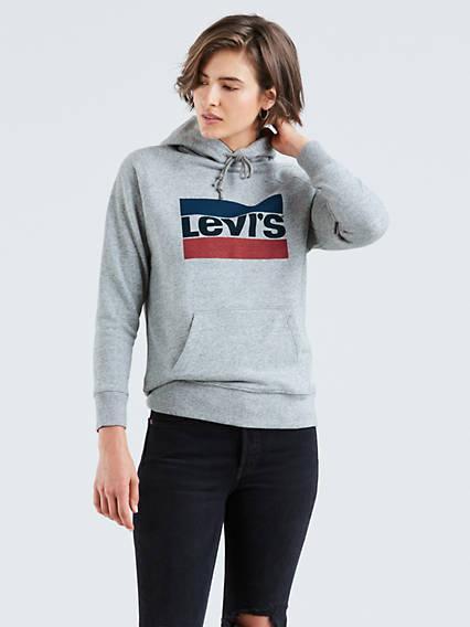 Graphic Sport Hoodie Gris / Smokestack Heather Sportswear Logo de Levi's en 21 Buttons